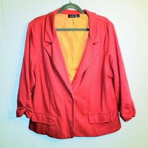 A.n.a Plus 2X 18 20 Blazer Hot Pink Ruched Sleeves